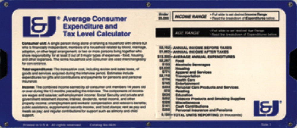 Average Consumer Expenditure and Tax Level Calculator - Lawyers & Judges Publishing Company, Inc.