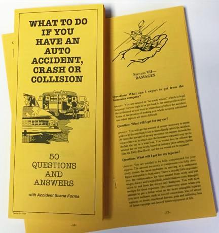 What to Do if You Have an Auto Accident, Crash or Collision: 50 Questions and Answers - Lawyers & Judges Publishing Company, Inc.