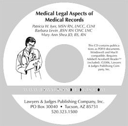 Medical Legal Aspects Medical Records CD - Lawyers & Judges Publishing Company, Inc.