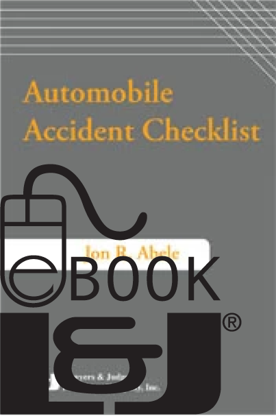 Auto Accident Checklist Second Edition PDF eBook - Lawyers & Judges Publishing Company, Inc.