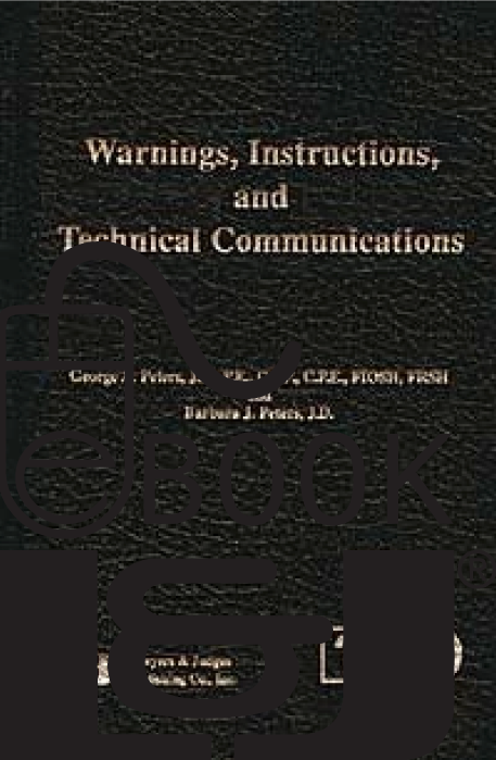 Warnings, Instructions and Technical Communications PDF eBook - Lawyers & Judges Publishing Company, Inc.