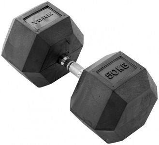 32.5kg to 50kg Rubber Hex Dumbbell Set (8pairs)