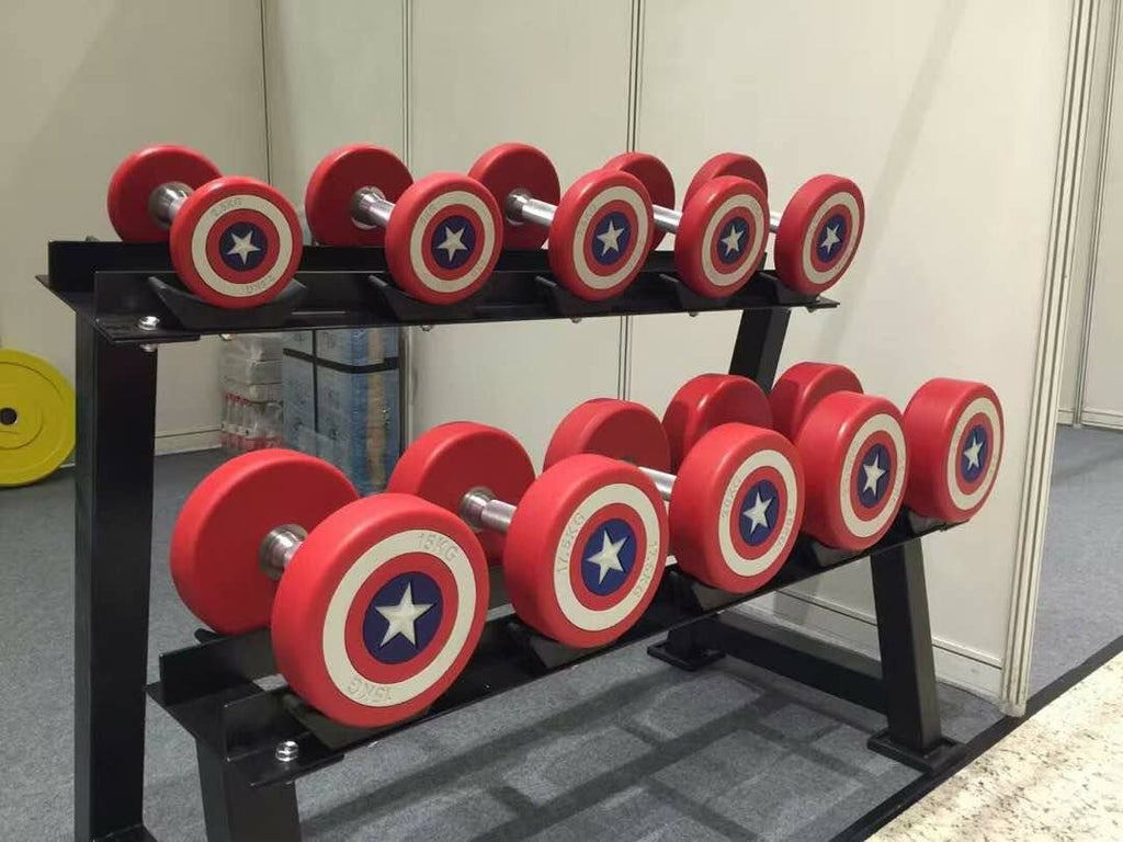 Captain America 2.5kg to 30kg PU Dumbbells LIMITED EDITION
