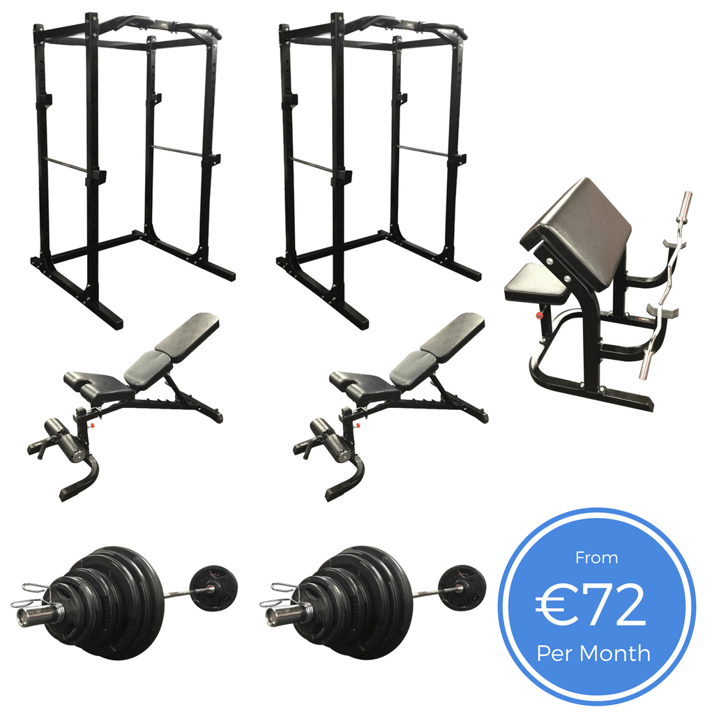 Double Power Rack Pack with lat towers