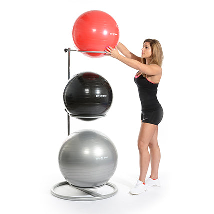 Gym Ball Set with Rack