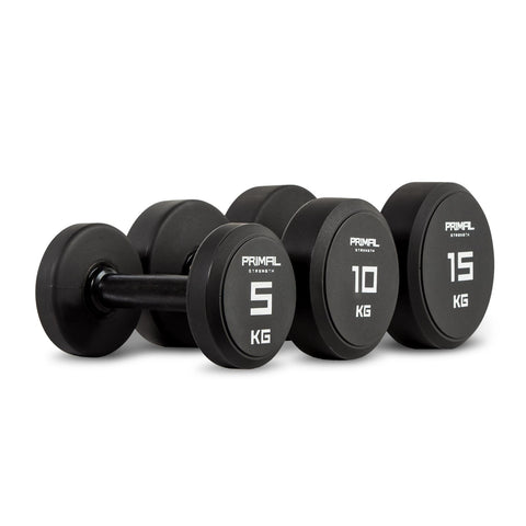 Primal Eurathane Dumbbell Set 2.5 to 25kgs