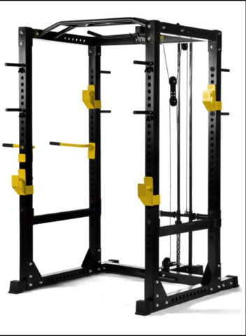 Heavy Duty Power Cage with Lat Tower & Chin / Dip Station(Preorder Due March 2021)