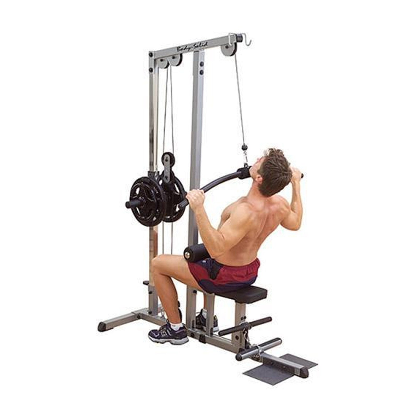 Low Cable Pull : Body solid lat pulldown low row glm strength and
