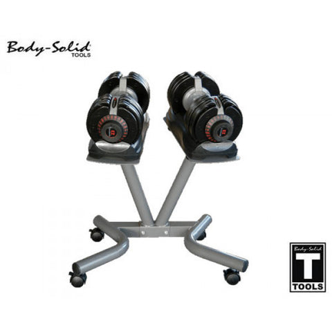 Bodysolid Selectech Dumbbells 32.5kg with stand