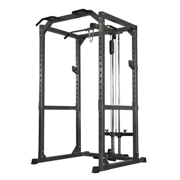 Heavy Duty Power Rack With Lat Attachment