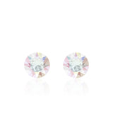 Multicolour small round earrings, Licorne Xirius, Swarovski crystals, made in montreal 1088-001AB