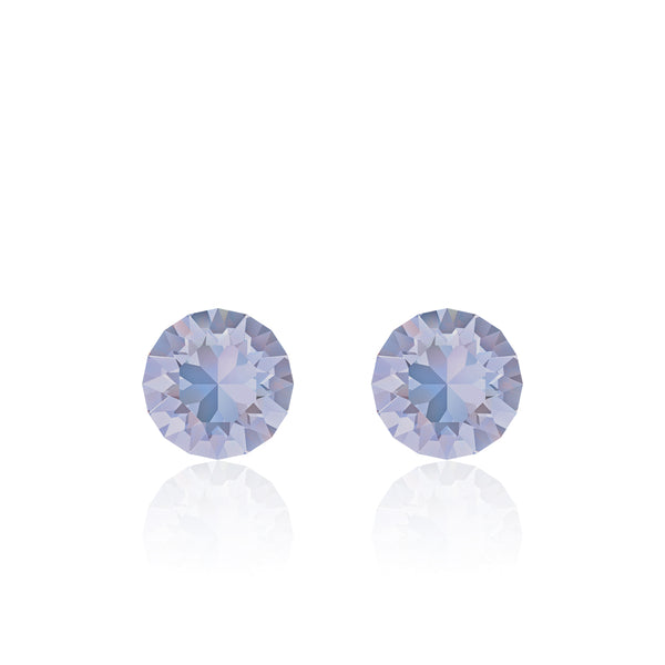 Light purple small round earrings, Lavande de Provence, Xirius, Swarovski crystals, made in montreal 1088-283