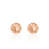 Peach small round earrings, Peach Bellini Xirius, Swarovski crystals, made in montreal 1088-391