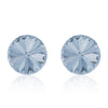 Blue round earrings, Blue Ombré Rivoli, Swarovski crystals, made in montreal 1122-001BLSH