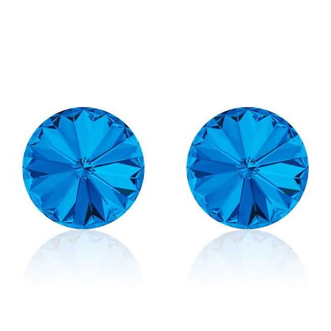 Classic Blue Rivoli Earrings