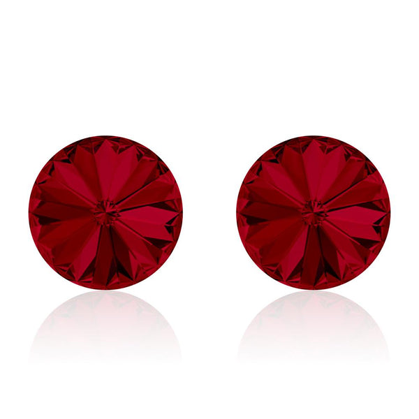 Rivoli Wine Ruby Earrings