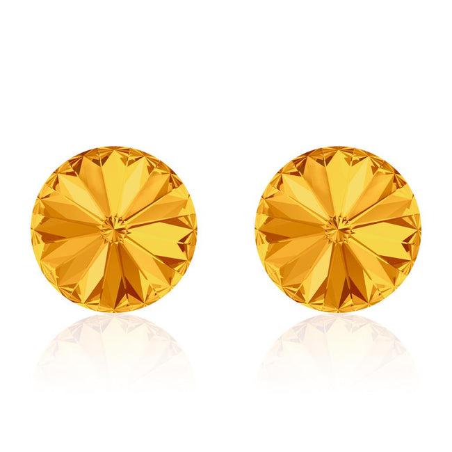 Gold Rush Rivoli Earrings
