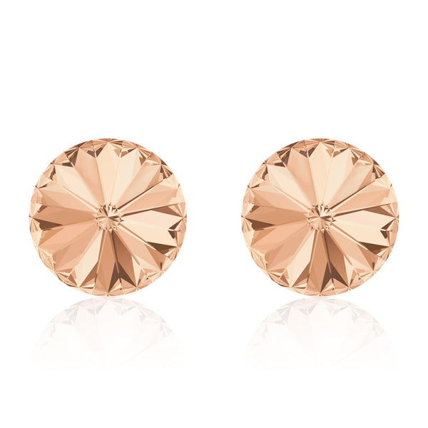 Peach Bellini Rivoli Earrings