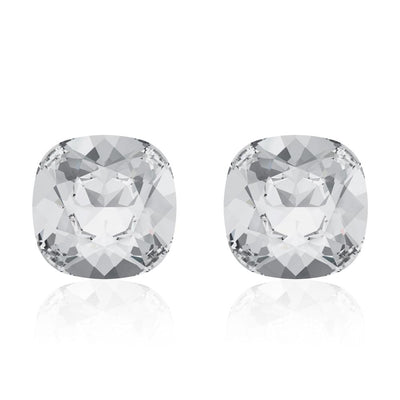 Cristal Cushion Stud Earrings Made of Crystals from Swarovski  Crystal