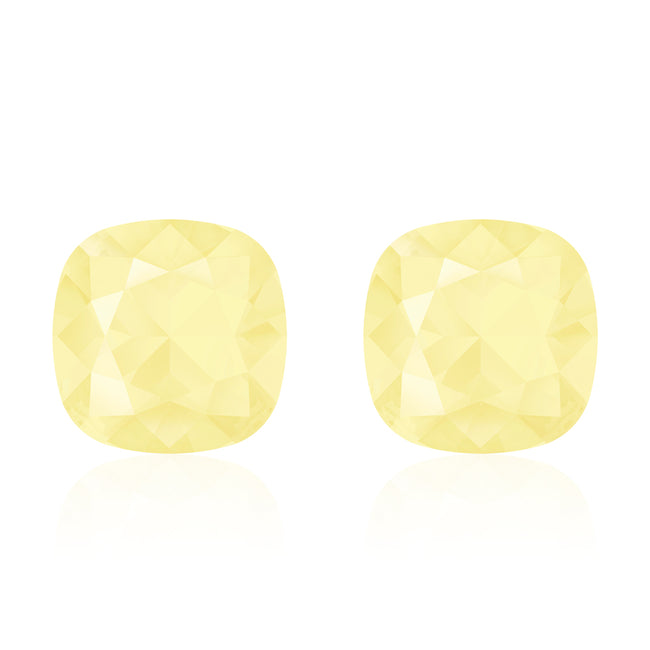 Yellow square earrings, Limoncello Cushion, Swarovski crystals, Made in montreal 4470-226