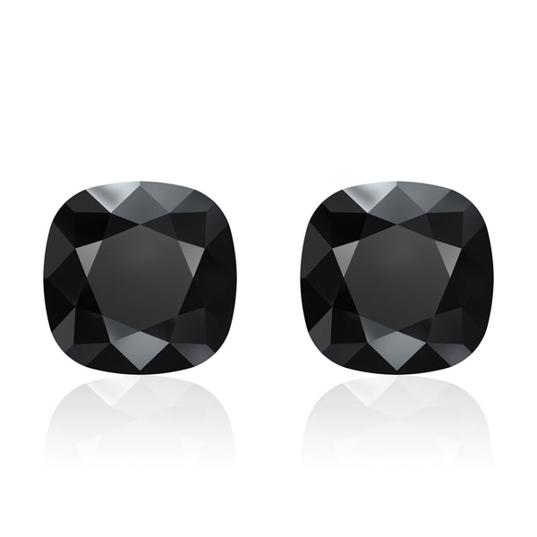 Jet Noir Cushion Earrings (Mini)
