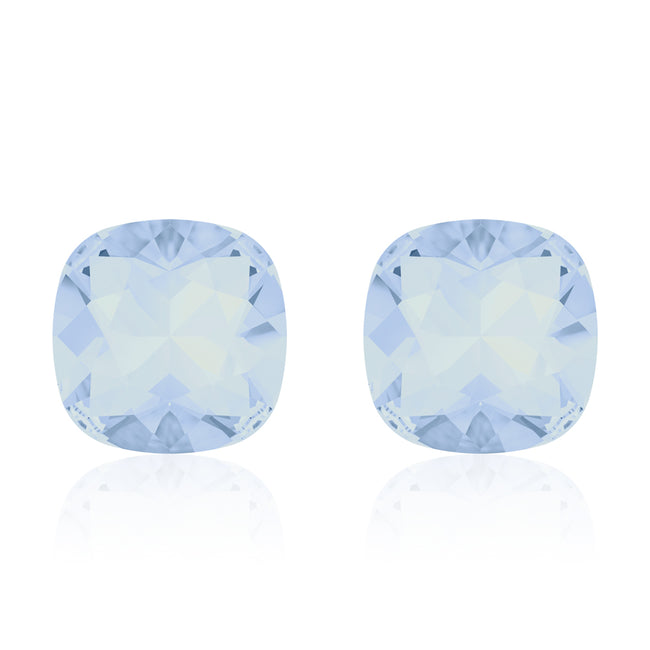 Light blue square earrings, Iceberg Cushion, Swarovski crystals, Made in montreal 4470-285