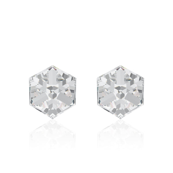 Crystal cube earrings, Cristal Cube, Swarovski crystals, Made in montreal 4841-001
