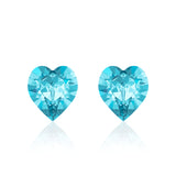 Light blue heart earrings cielo, Swarovski crystals, Made in montreal 4884-202