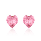 Multi colour crystal  heart earrings licorne, Swarovski crystals, Made in montreal 4884-001AB