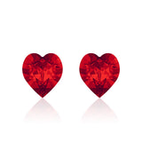 Red heart earrings cherry pie, Swarovski crystals, Made in montreal 4884-227