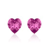 Pink heart earrings flamingo, Swarovski crystals, Made in montreal 4884-502