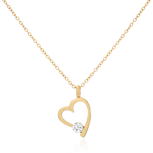 Coeur Brillant Necklace - Gold