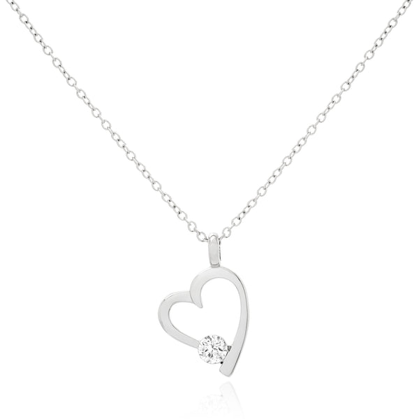 Coeur Brillant Necklace - Silver