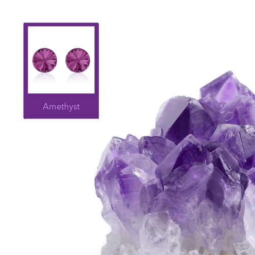 Amethyst Rivoli Earrings