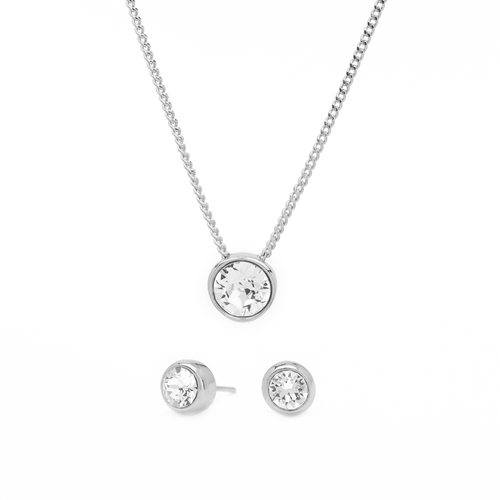 Khloe Essentiel Crystal Set - Silver