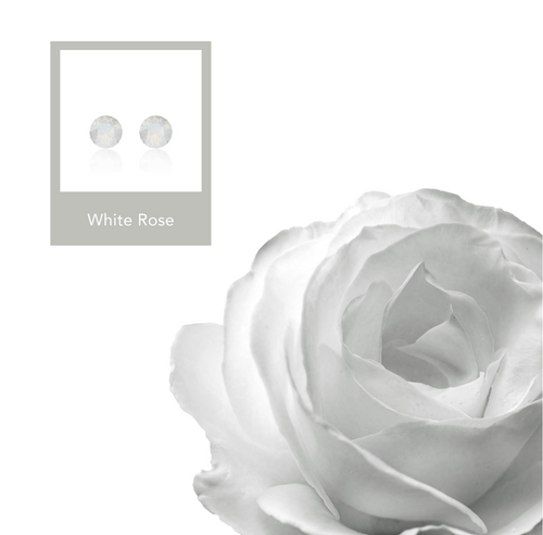 White Rose Xirius Earrings