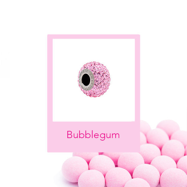 Breloque Swarovski® Becharmed Pavé Bubblegum