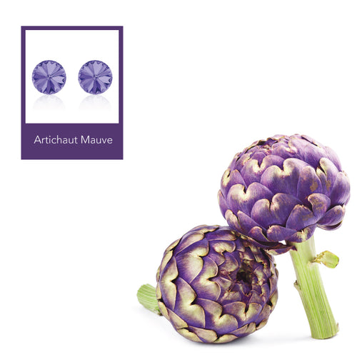 Artichaut Mauve Rivoli Earrings