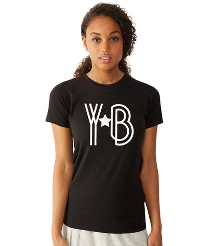 Young YB a Star Women's Short Sleeve Shirt S / Black/White, Women's Shirts - Young Blvd. Apparel, Young Blvd. Apparel