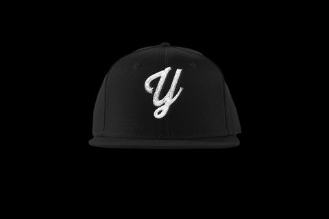 "Young ""Y"" Snap Back Hat (15 color combinations) Black/White, Headwear - Young Blvd. Apparel, Young Blvd. Apparel  - 7"