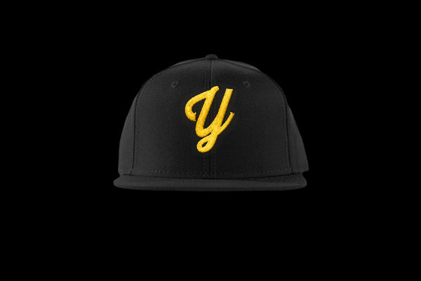 "Young ""Y"" Snap Back Hat (15 color combinations) Black/Yellow, Headwear - Young Blvd. Apparel, Young Blvd. Apparel  - 2"