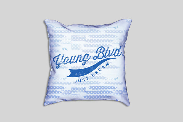 Blue USA - Pillow , Home - Young Blvd. Apparel, Young Blvd. Apparel