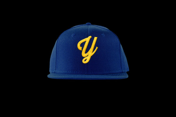 "Young ""Y"" Snap Back Hat (15 color combinations) Blue/Gold, Headwear - Young Blvd. Apparel, Young Blvd. Apparel  - 13"