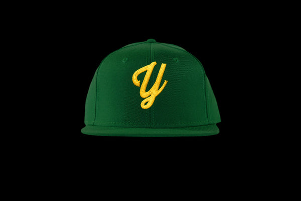 "Young ""Y"" Snap Back Hat (15 color combinations) Green/Gold, Headwear - Young Blvd. Apparel, Young Blvd. Apparel  - 10"
