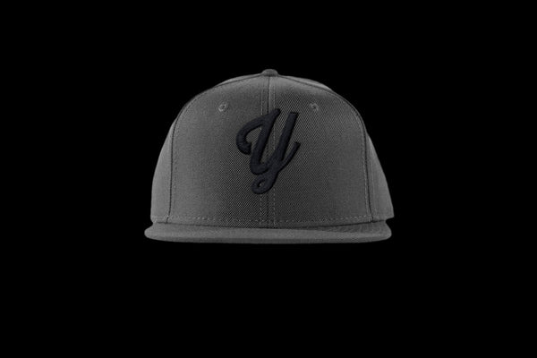 "Young ""Y"" Snap Back Hat (15 color combinations) Charcoal/Black, Headwear - Young Blvd. Apparel, Young Blvd. Apparel  - 14"