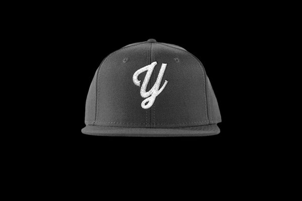 "Young ""Y"" Snap Back Hat (15 color combinations) Charcoal/White, Headwear - Young Blvd. Apparel, Young Blvd. Apparel  - 12"