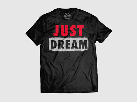 Just Dream v.2 Short Sleeve T Shirt  (2 Color combos) Small / Black/Red/Silver, Shirts - Young Blvd. Apparel, Young Blvd. Apparel  - 1