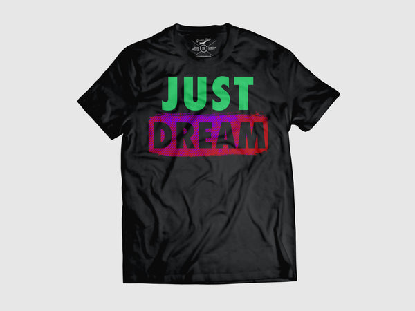 Just Dream v.2 Short Sleeve T Shirt  (2 Color combos) Small / Black/Green/Purple, Shirts - Young Blvd. Apparel, Young Blvd. Apparel  - 2