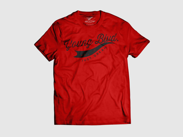 Young Forever Dream Signature Short Sleeve Shirt (6 Colors) XS / Red/Black, Shirts - Young Blvd. Apparel, Young Blvd. Apparel  - 4