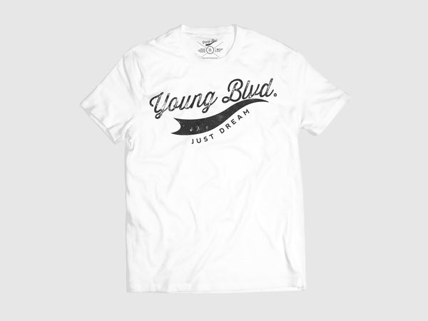 Young Forever Dream Signature Short Sleeve Shirt (6 Colors) XS / White/Black, Shirts - Young Blvd. Apparel, Young Blvd. Apparel  - 6